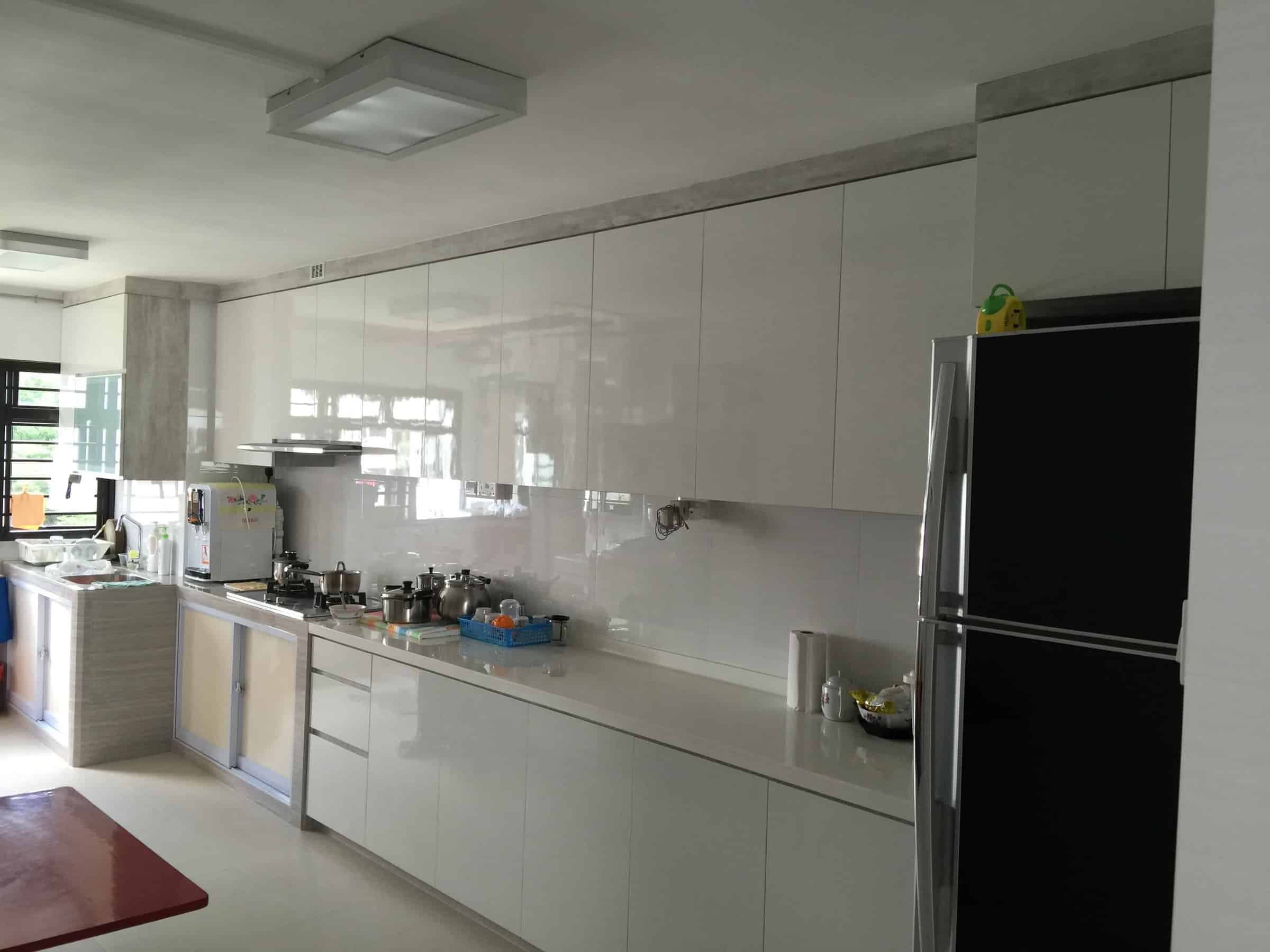 Renovation contractor singapore home office interior design reno Kitchen design in hdb